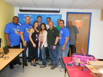 The Northstar New Jersey staff volunteers who helped with the After School Advantage Computer Lab up